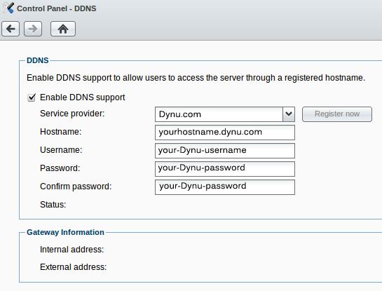 Synology NAS | Free Dynamic DNS Service | Dynu