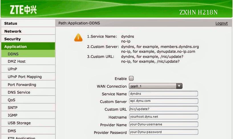 ZTE | Dynamic DNS Service | Dynu Systems, Inc