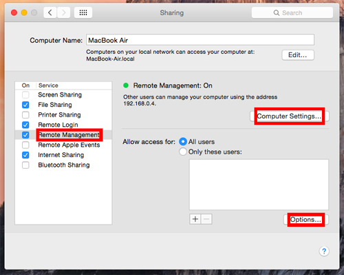 Setting up Remote Access (Mac) | Free Dynamic DNS Service (Mac)