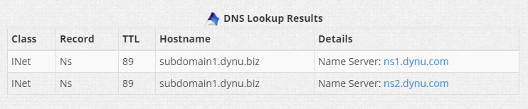 Name Server Record Dynu Dynamic DNS