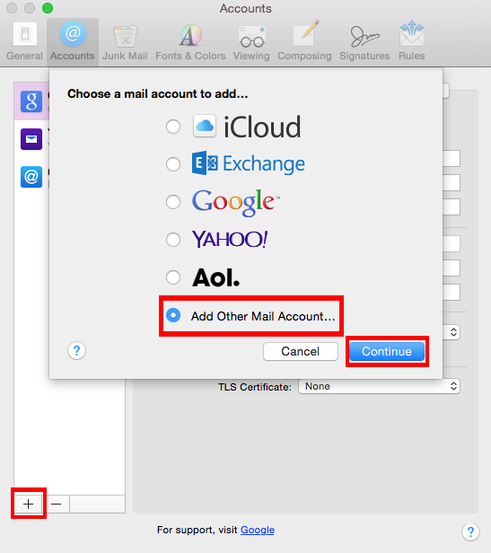 Apple Mail Client Configuration