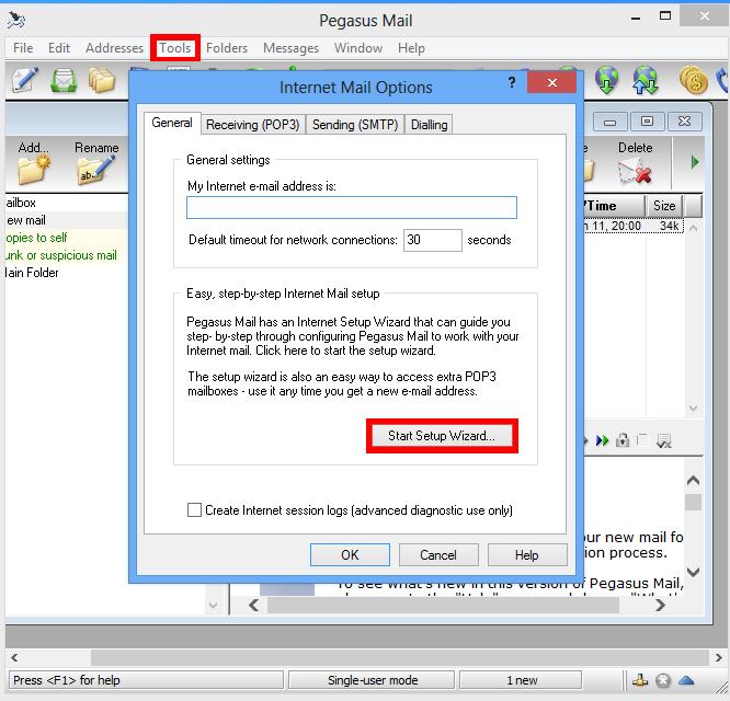 Pegasus Mail | Email Client Configuration