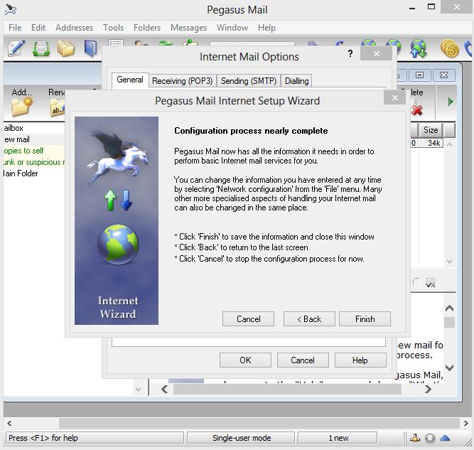 Pegasus Mail   Email Client Configuration