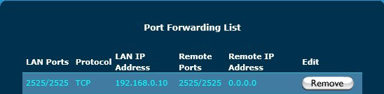 hMailServer email server port forwarding