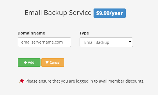 Email Backup Sign up