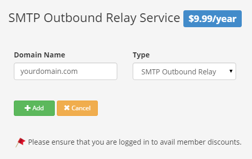 SMTP outbound relay