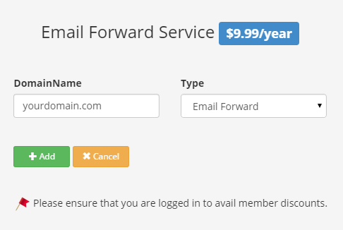 Email Forward Sign up